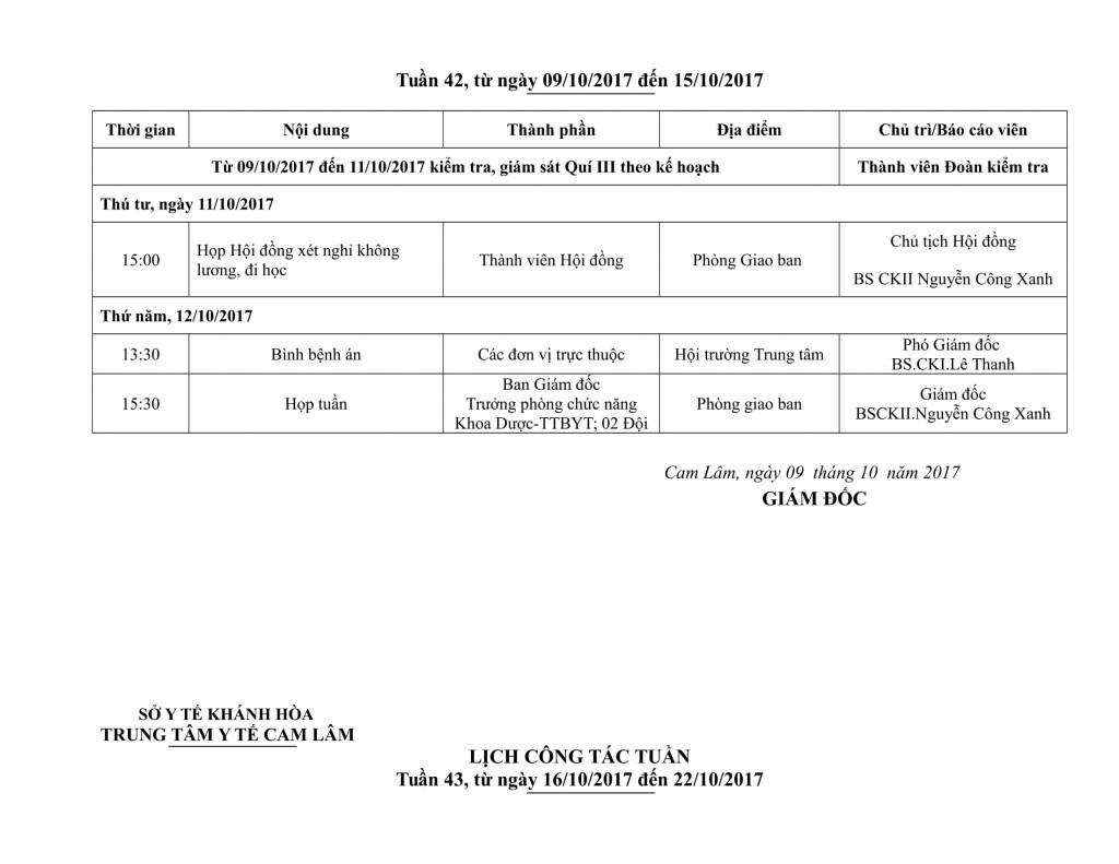 Lịch công tác tuần QIV-2017-02