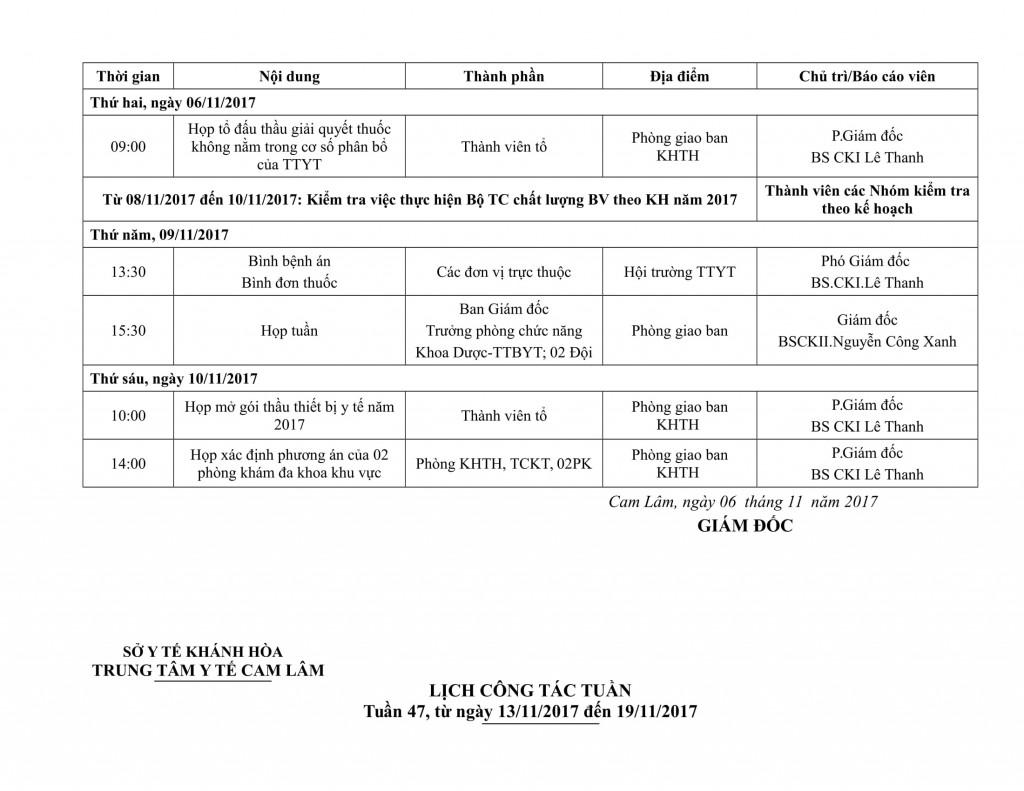 Lịch công tác tuần QIV-2017-06