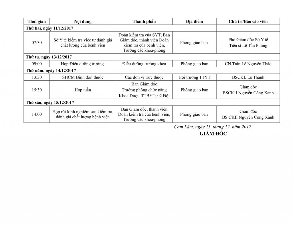 Lịch công tác tuần QIV-2017-11